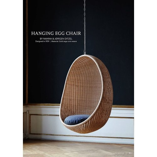 Icons Hanging Egg Chair. Rattan. Excludes chain and seat cushion