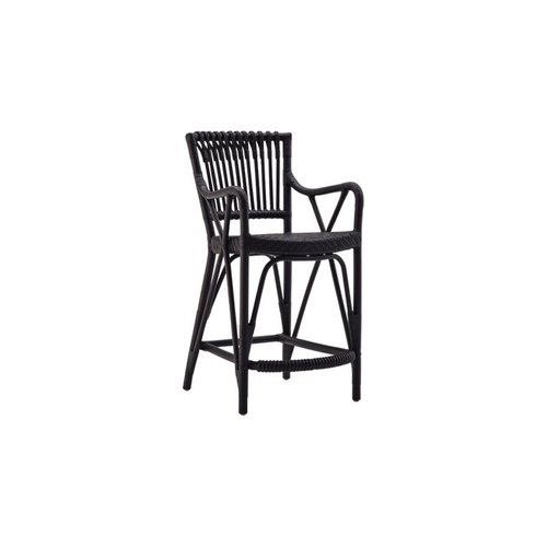 Originals Big Blues Barstool. Matt black. SH75cm.