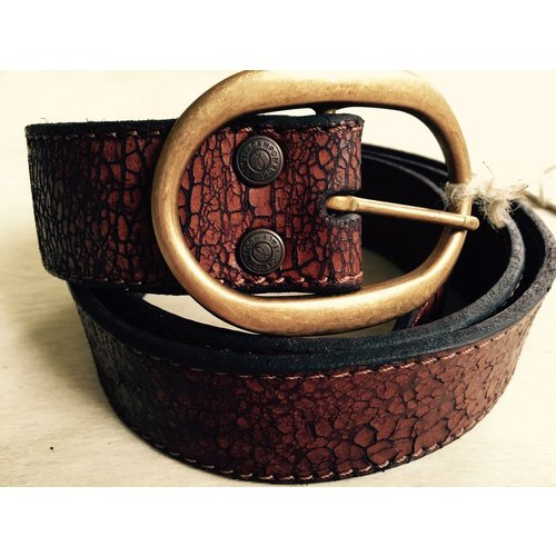 Campomaggi Cowhide Leather Belt 4cm. Crackle. Moro. SIZE 85