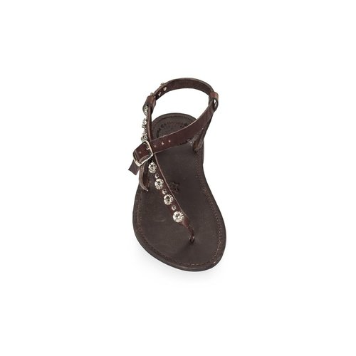 Campomaggi Geniune leather sandals. Strap with studs. Moro. Size 38