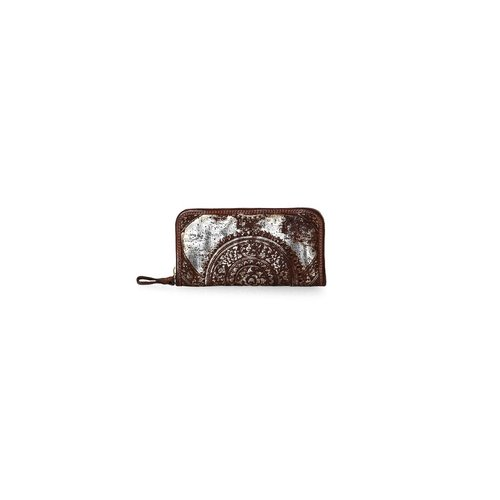 Campomaggi Wallet. 100% genuine leather. Argento tinto cognac.