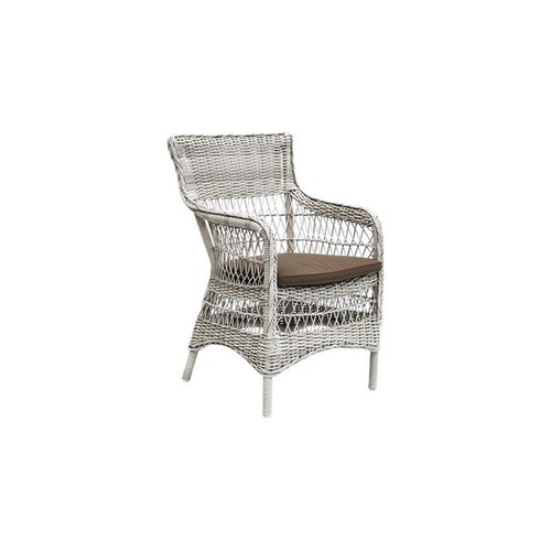 Marie Chair with Armrest Cushion - Taupe