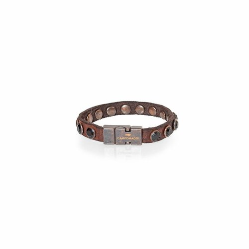 Campomaggi Cowhide Leather Bracelet, Cognac