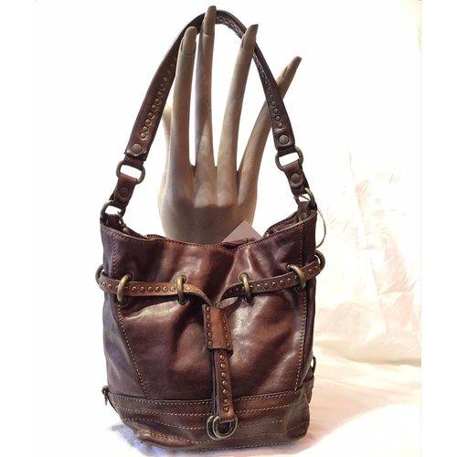Campomaggi Line GINSENG. Leather bucket bag. Medium. Moro.