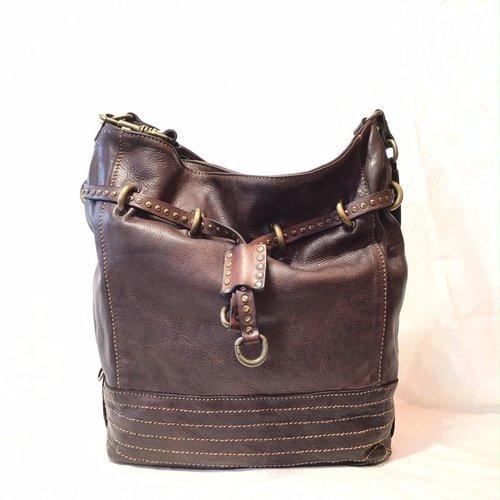 Campomaggi Line GINSENG. Leather bucket bag. Large. Moro.