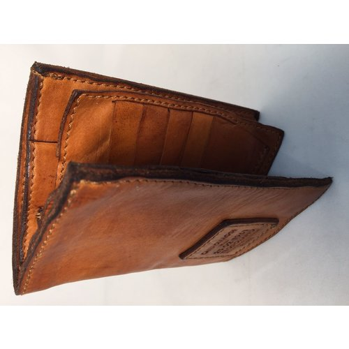 Campomaggi 100% Genuine Leather Document Holder. Cognac.