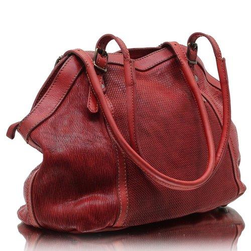 Campomaggi Line BETULLA. 100% genuine leather. Handbag. Cognac