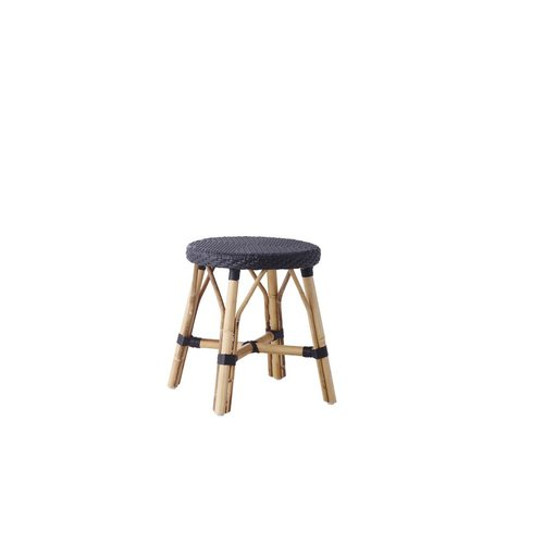 Affaire Simone stool. All Black weave. Height 46cm Diameter40cm