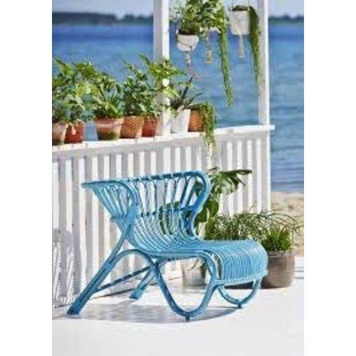 Exterior FOX Lounge Chair - Alurattan Blue