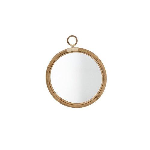 Originals Ella Mirror. Diameter 40cm with skin-on natural rattan.