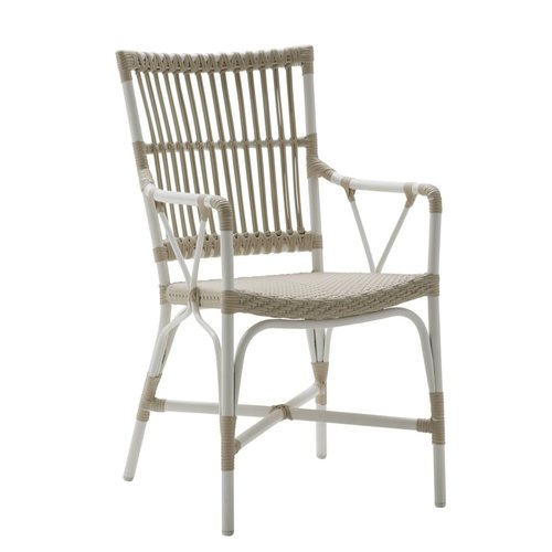 Exterior Piano Chair w arms - Exterior - Dove White