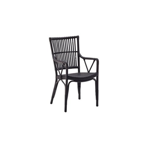 Exterior Piano Chair w arms - Exterior - Black