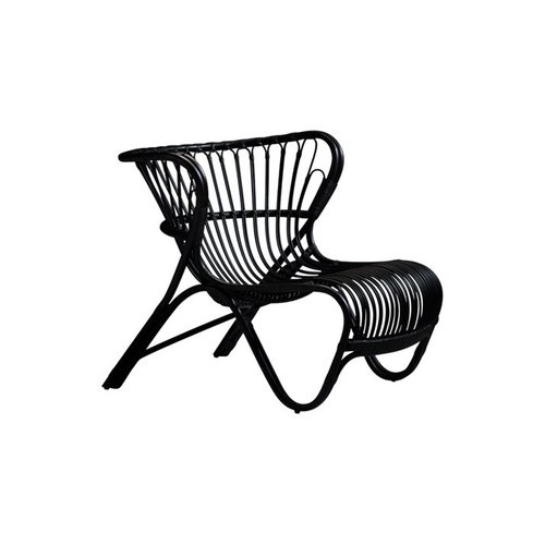 Icons FOX Lounge Chair - Polished Black Matt