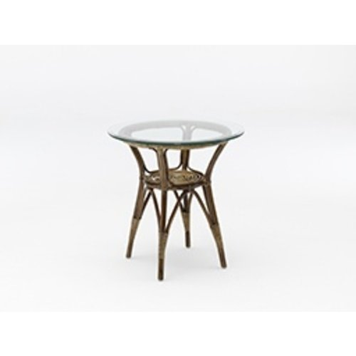 Originals Side Table Round, Antique<br />- excluding glass. [add 60cm P9060]