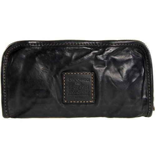Campomaggi Cowhide Leather Wallet, Black