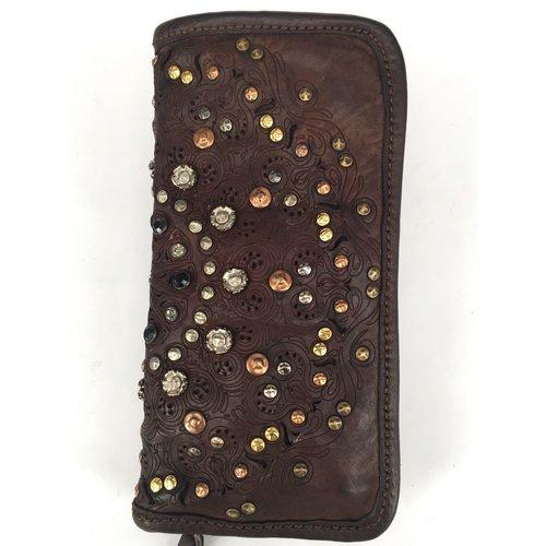 Campomaggi Line AMAMELIDE. 100% genuine leather. Wallet. Moro.