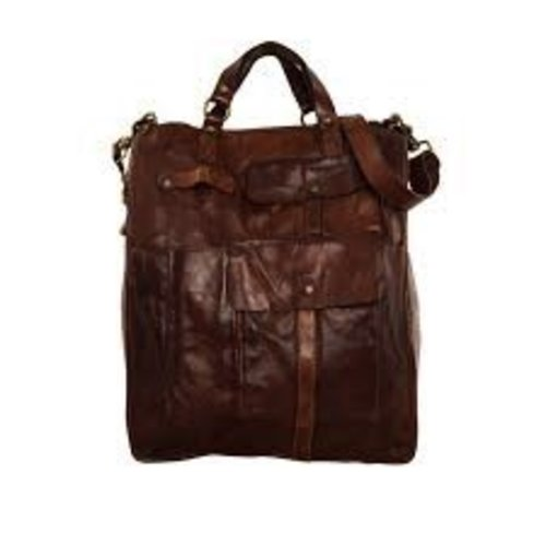 "Campomaggi Cowhide Leather Bag.  Famous ""Moscati"" design. Moro."