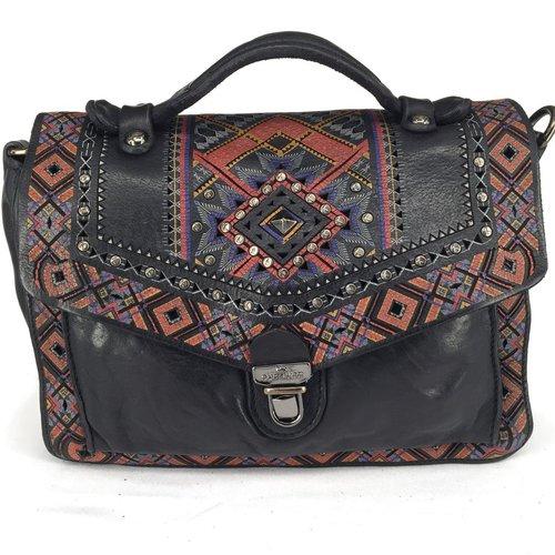 Campomaggi 100% genuine leather. Line SURFINIA. Briefcase. Nero