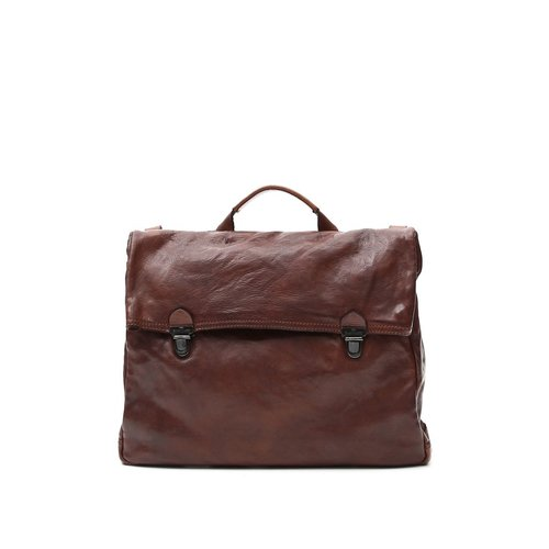 Campomaggi 100% genuine leather. Line GERANIO. Briefcase. Moro.