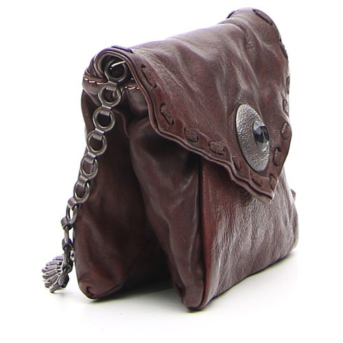 Campomaggi 100% Genuine leather. Small satchel bag. Studs lining the sides. Moro.