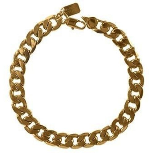 Marrin Costello Queens Bracelet. Silky smooth interlocking Cuban links. Gold. USA Size