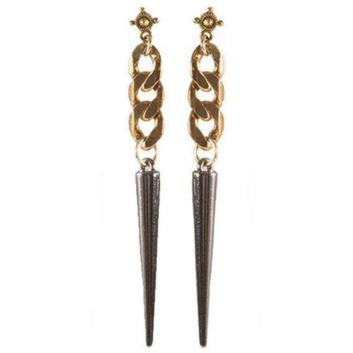 Marrin Costello LISH Earrings. For pierced ears. Gun Metal
