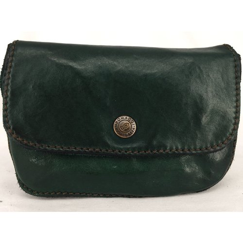 Campomaggi Coin Purse. 100% Leather. Green Bottle