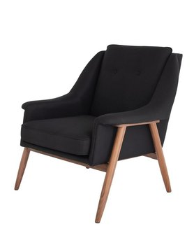 Nuevo Living GRACE OCCASIONAL CHAIR  BLACK WALNUT