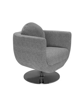 Nuevo Living SIMONE OCCASIONAL CHAIR GREY  FABRIC BLEND POLISHED SS