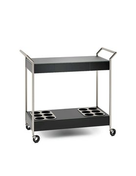 BDI Verra Black Mobile Cart
