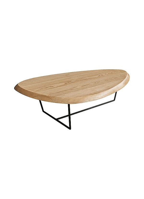Gus Modern Hull Coffee Table Ash Natural Black