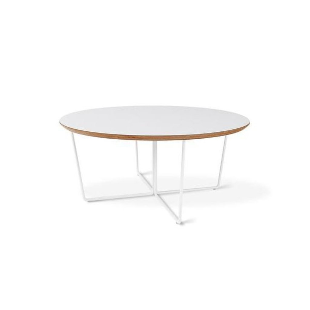 Gus Modern Array Coffee Table Round White Powder Coat