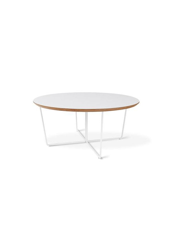 Gus Modern Array Coffee Table Round White Powder Coat