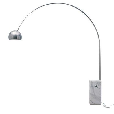 Nuevo Living Cora Floor Lamp with White Marble Base