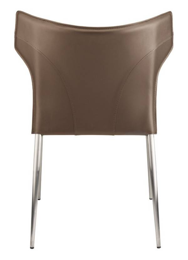 Nuevo Living WAYNE DINING CHAIR MINK SEAT SILVER LEGS