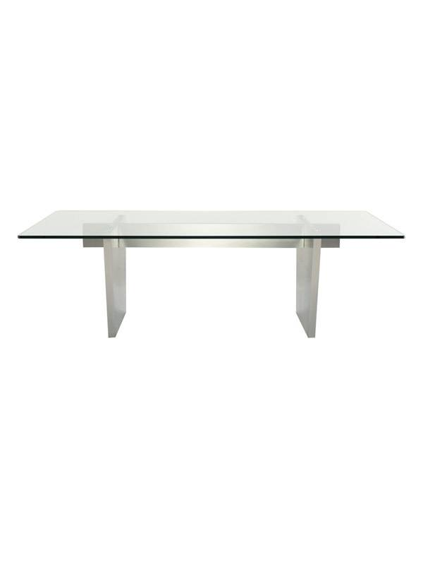 "Nuevo Living AIDEN DINING TABLE BRUSHED 94.5X44""X29.5"