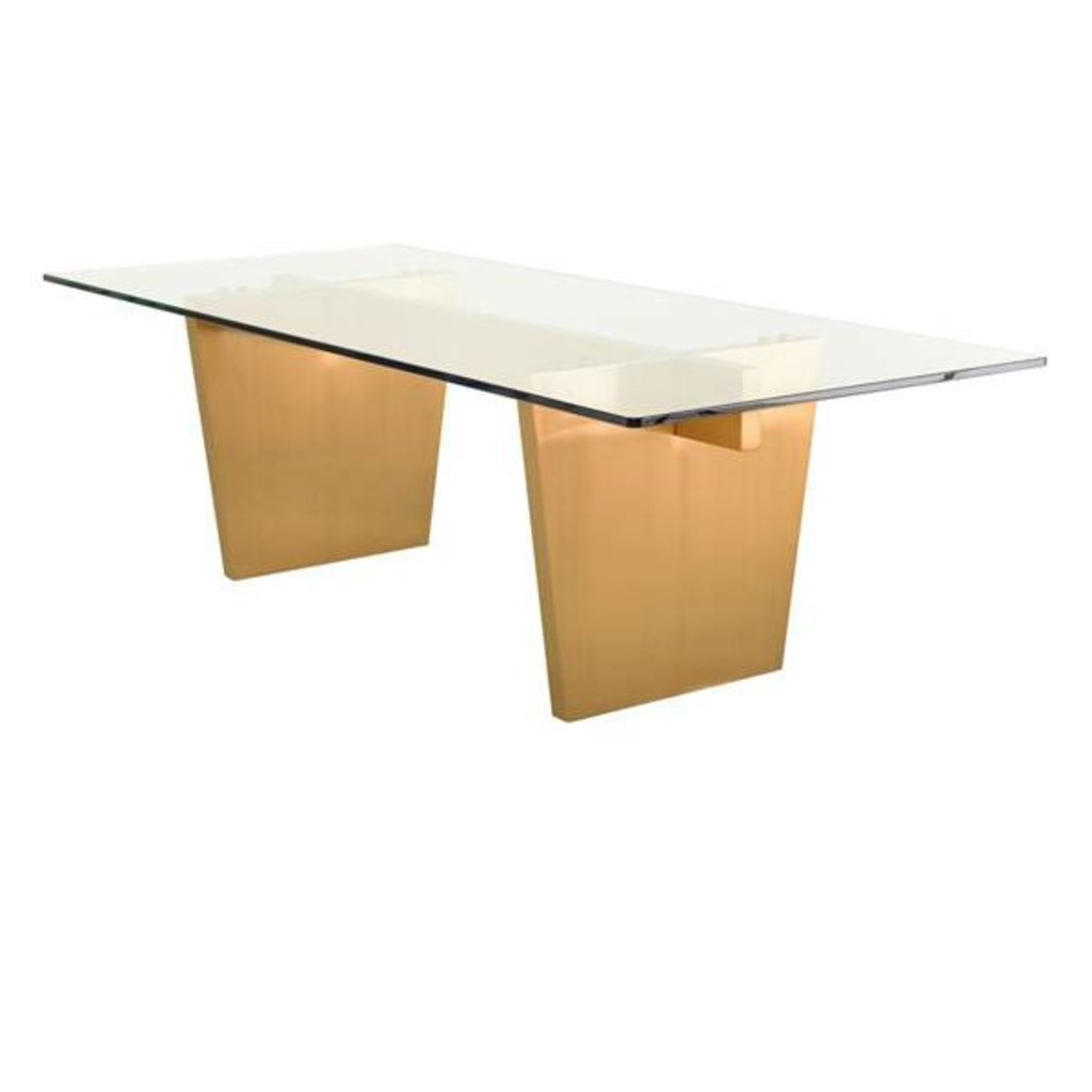 Aiden Dining Table Brushed Gold