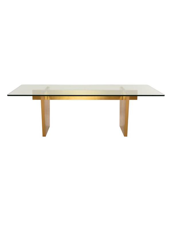 Nuevo Living AIDEN DINING TABLE BRUSHED GOLD
