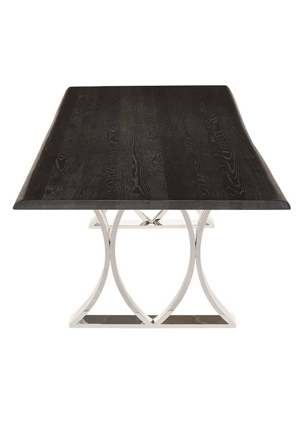 Nuevo Living MILA DINING TABLE OXIDIZED GREY OAK POLISHED