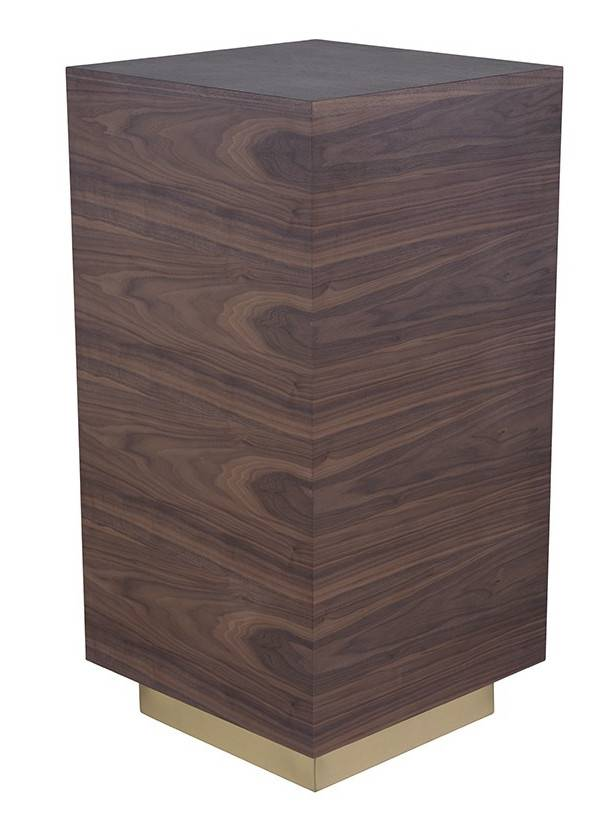 Nuevo Living NOAH SIDE TABLE WALNUT GOLD BASE