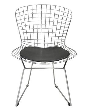 Nuevo Living WIREBACK - DINING CHAIR  BLACK SEAT NAUGAHYDE MATTE