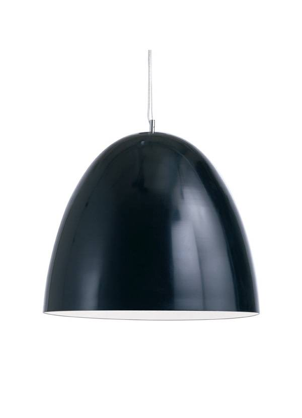 Nuevo Living DOME PENDANT LIGHT BLACK SHADE WHITE BODY