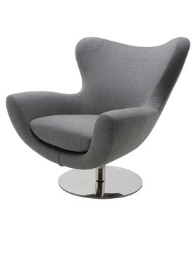 Nuevo Living CONNER OCCASIONAL CHAIR LIGHT GREY POLISHED SS