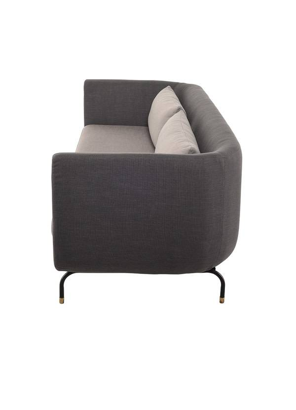 Nuevo Living GABRIEL SOFA CHARCOAL GREY