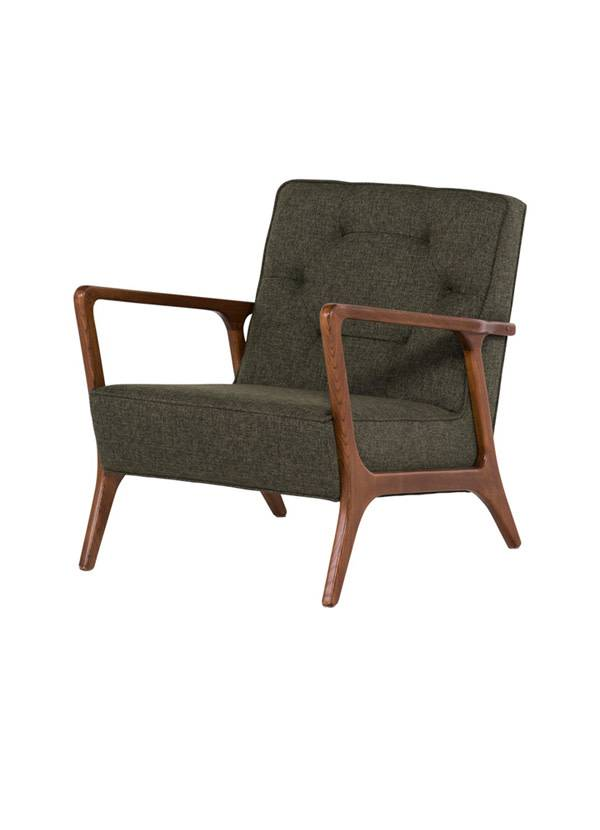 Nuevo Living ELOISE OCCASIONAL CHAIR  HUNTER GREEN TWEED WALNUT