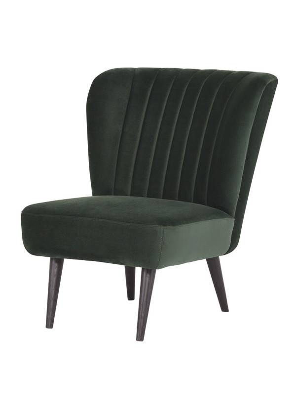 Nuevo Living ALICIA OCCASIONAL CHAIR  EMERALD GREEN BLACK LEGS