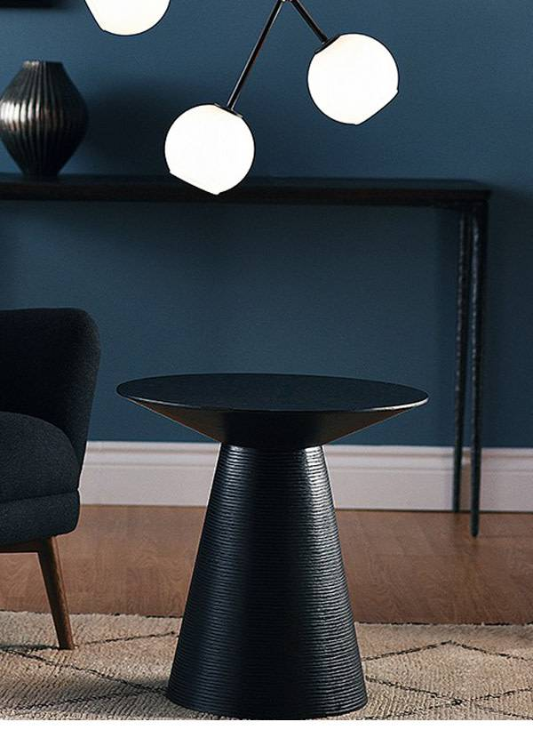 Nuevo Living ANIKA  SIDE TABLE BLACK  OAK