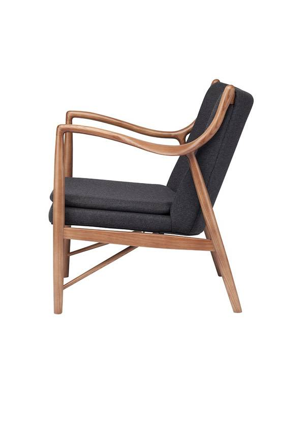 Nuevo Living CHASE OCCASIONAL CHAIR GREY WALNUT FRAME
