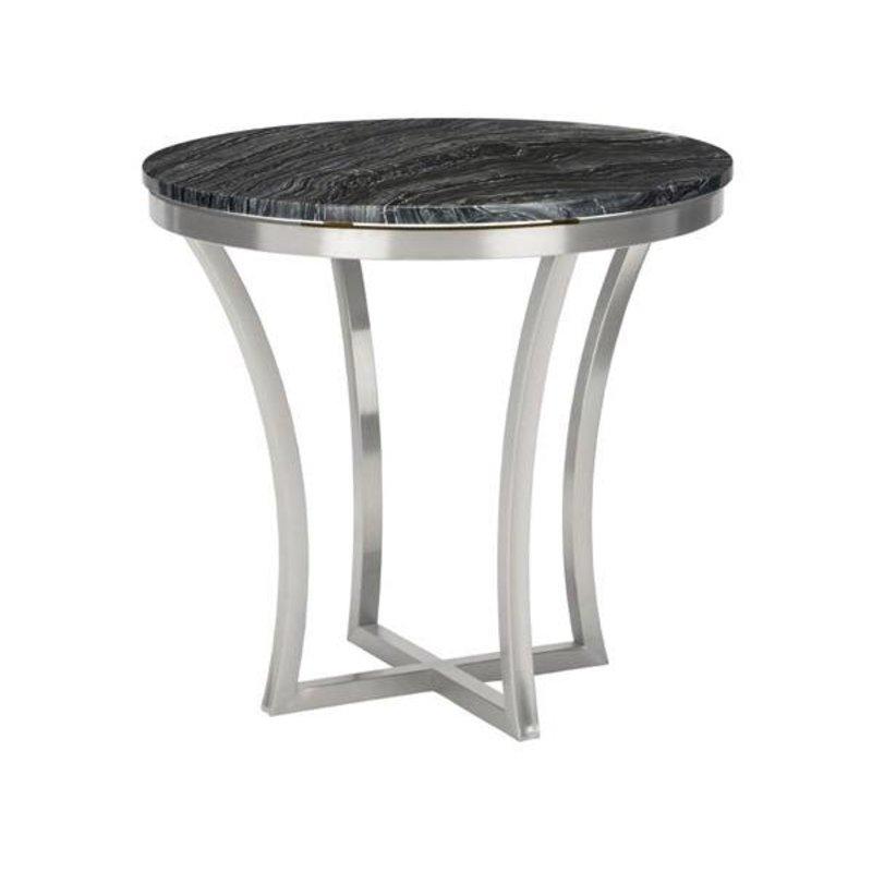 Nuevo Living Aurora Side Table Black Marble