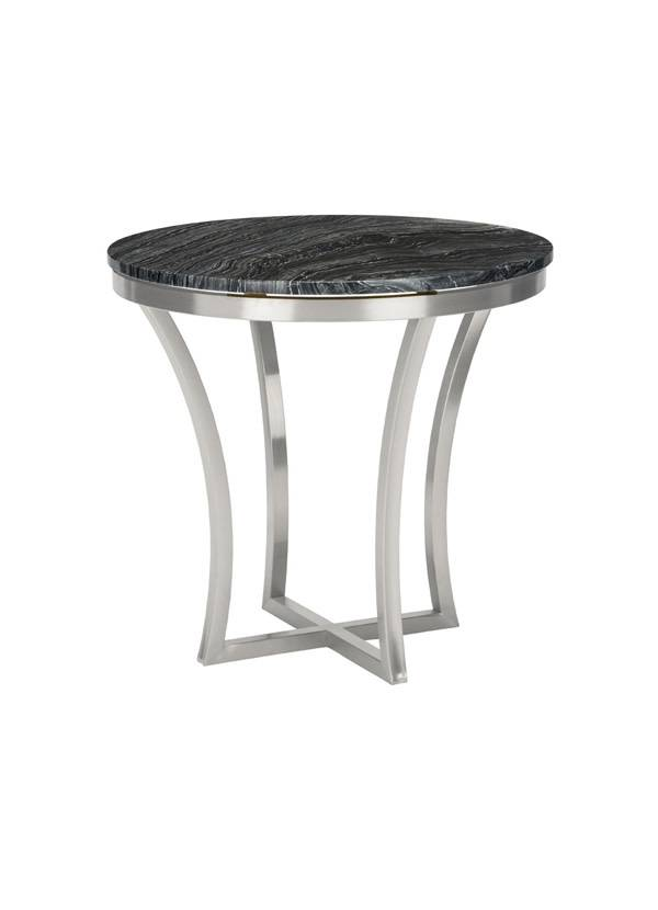 Nuevo Living AURORA SIDE TABLE BLACK MARBLE POLISHED SS